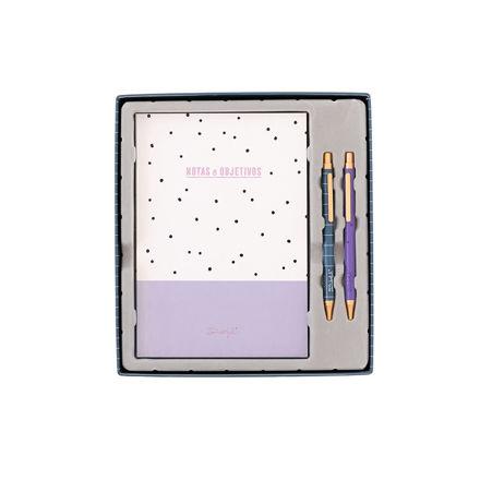 Imagem de Conjunto Caderno + Canetas - Notas e Objetivos