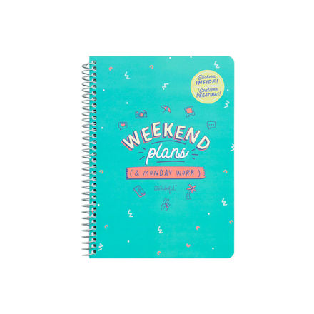 """Imagem de Caderno """"Weekend Plans"""""""