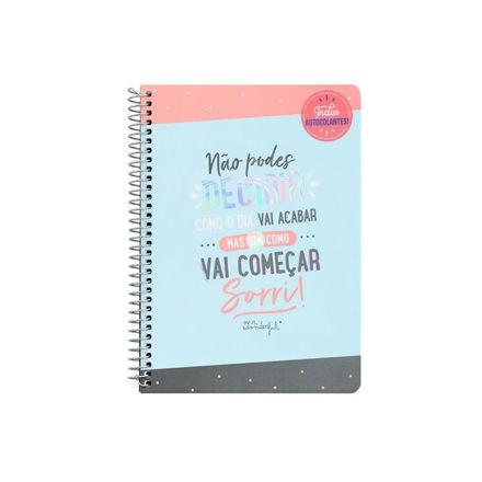 """Imagem de Caderno """"Não podes decidir com o dia vai acabar…"""""""