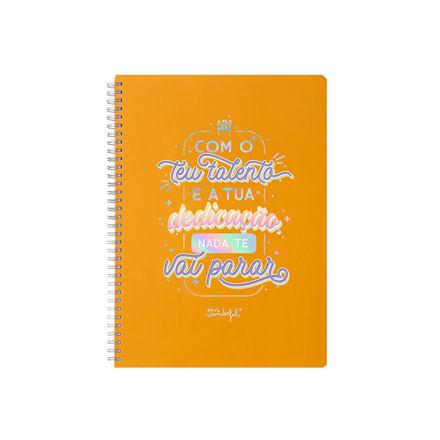 """Imagem de Caderno Grande """"Com o teu talento e a tua dedicação…"""""""