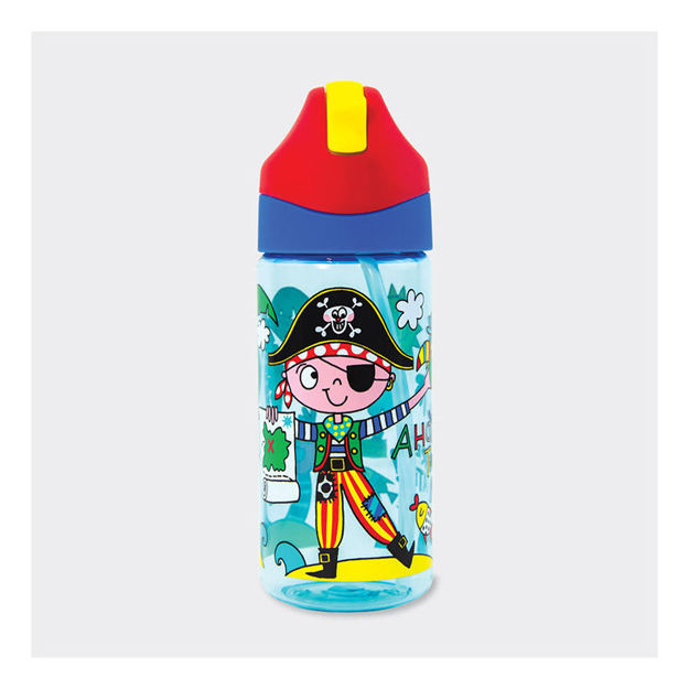 """Imagem de Garrafa de água com Palhinha """"Pirata"""""""