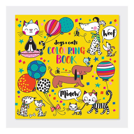 """Imagem de Livro de Colorir """"Cães e Gatos"""""""