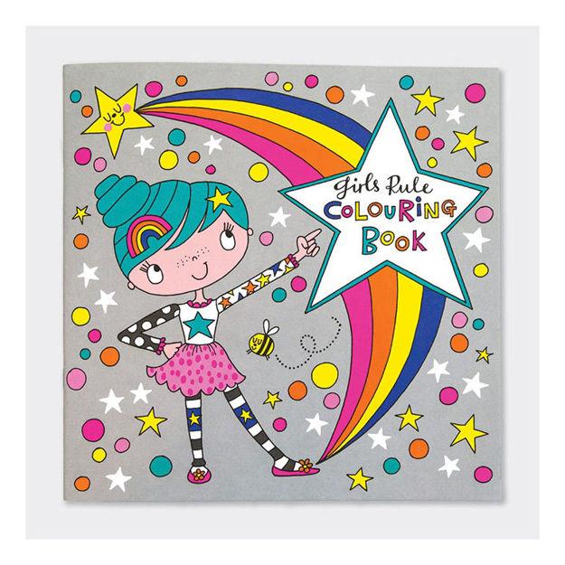 """Imagem de Livro de Colorir """"Girls Rule"""""""