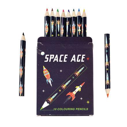 Imagem de Conjunto 12 Mini Lápis de Cor - Space Age