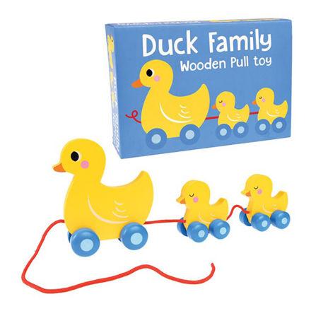 Imagem de Brinquedo de Puxar - Família de Patos