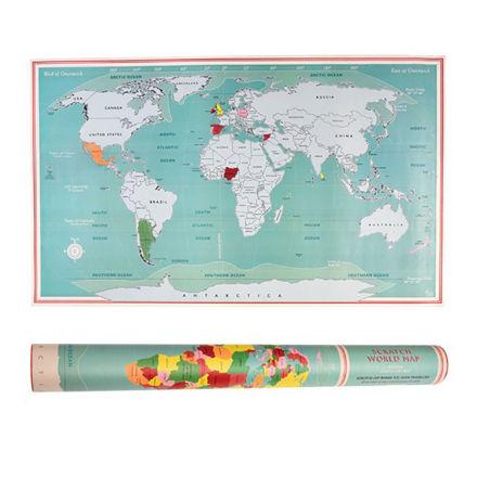 Imagem de Mapa Mundo p/ Raspar