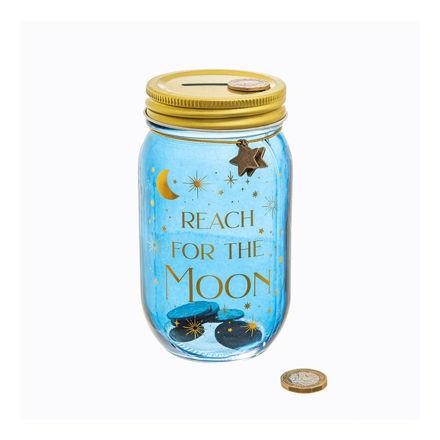 """Imagem de Mealheiro """"Reach for the moon"""""""