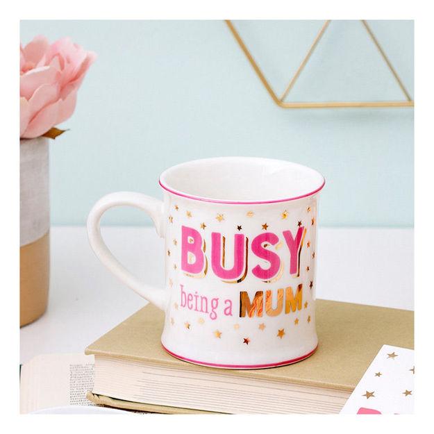"""Imagem de Caneca """"Busy being a Mum """""""