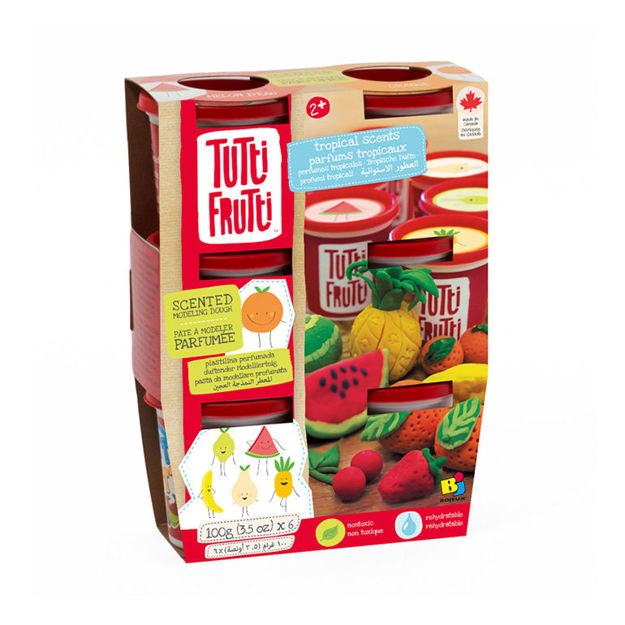Imagem de Tutti Frutti Plasticina - 6 potes aroma tropical