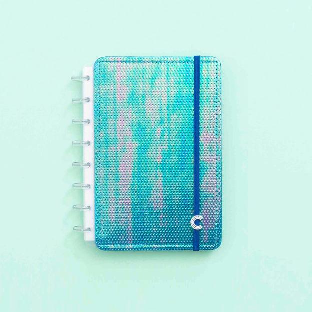 Imagem de Caderno Azul Holográfico - A5