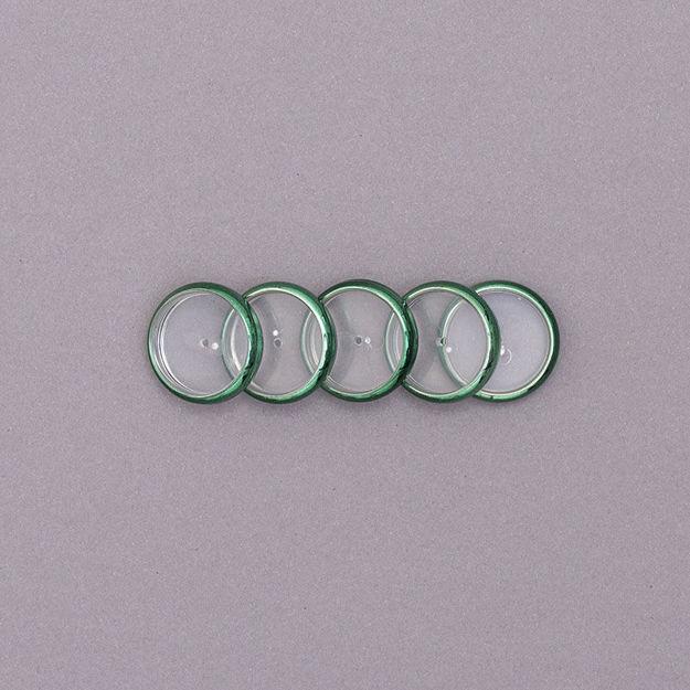 Imagem de Discos e Elástico M Verde Metálico