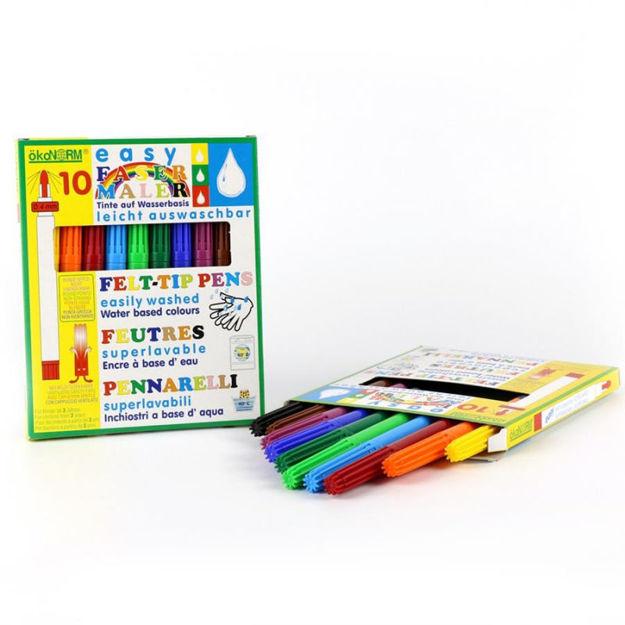 Imagem de Marcadores de Feltro 4mm,  10 cores