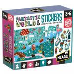 Imagem de Puzzle + Stickers - Mundo Fantástico