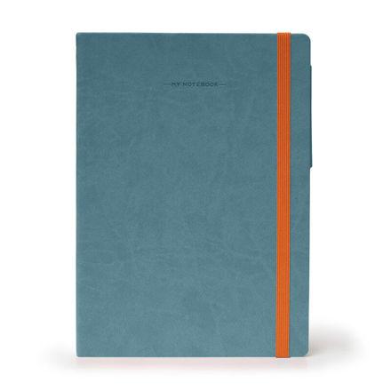 Imagem de Notebook Grande c/linhas - Azul Cinzento