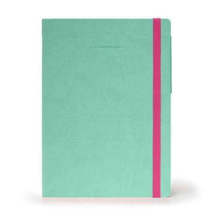 Imagem de Notebook Grande c/linhas - Verde Água