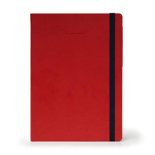 Imagem de Notebook Grande c/linhas - Vermelho