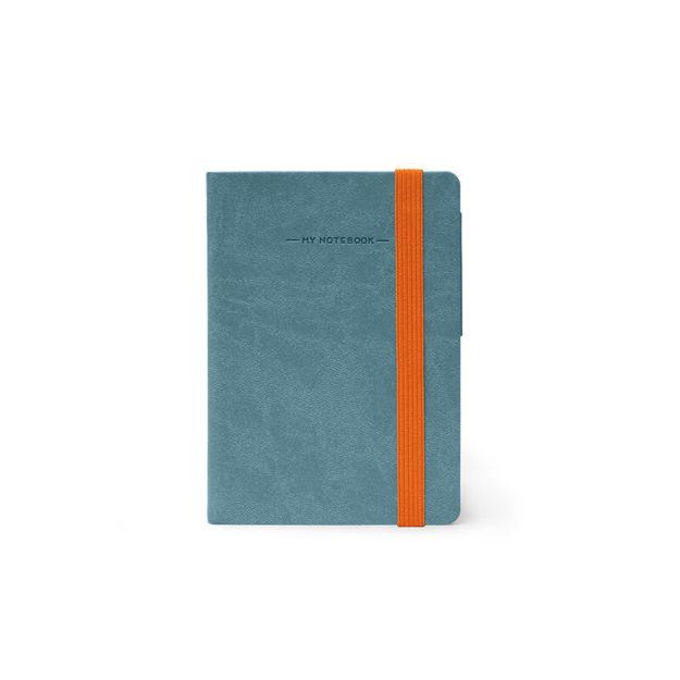 Imagem de Notebook peq c/ linhas - Azul cinzento