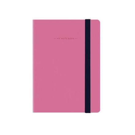 Imagem de Notebook peq c/ linhas - Rosa Choque