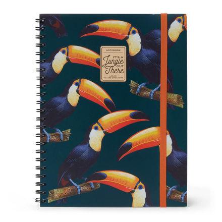 Imagem de Notebook A4 c/ Argolas 3 em 1  It's a jungle out there