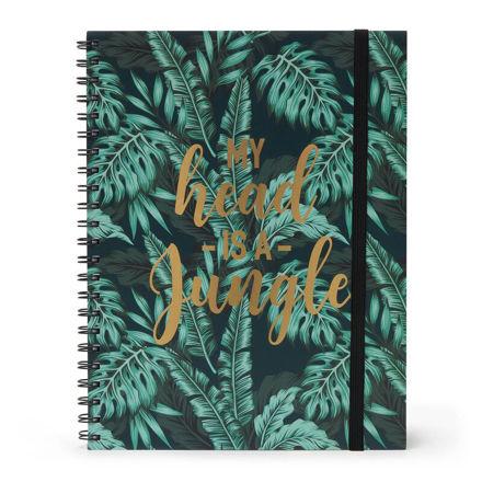 Imagem de Notebook A4 c/ Argolas 3 em 1  My head is a jungle