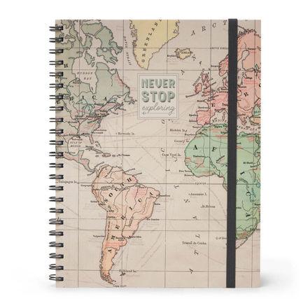 Imagem de Notebook A4 c/ Argolas 3 em 1  Never Stop Exploring