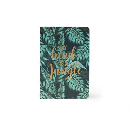 """Imagem de Notebook A5 """"My head is a Jungle"""" Liso"""
