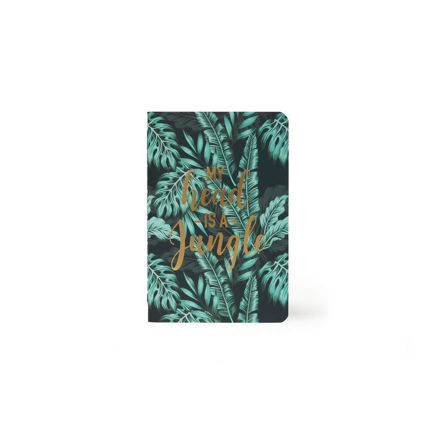 "Imagem de Notebook A6 ""My Head is a Jungle"" Pautado"