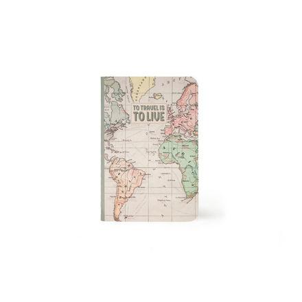"""Imagem de Notebook A6 """"To Travel is to Live"""" Pautado"""