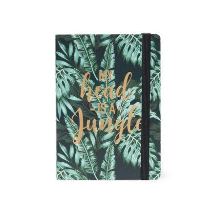"Imagem de Notebook c/ elástico Médio ""My head is a jungle"""