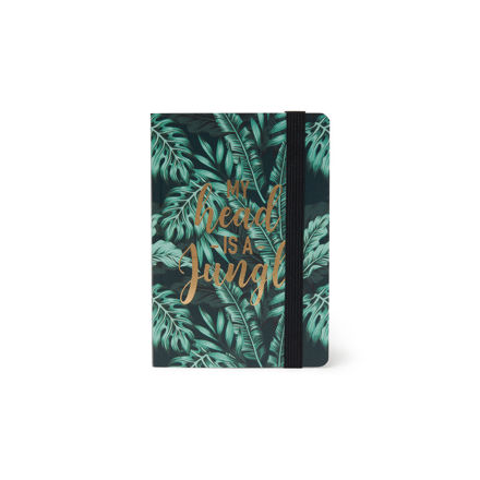 "Imagem de Notebook c/ elástico Pequeno ""My head is a jungle"""