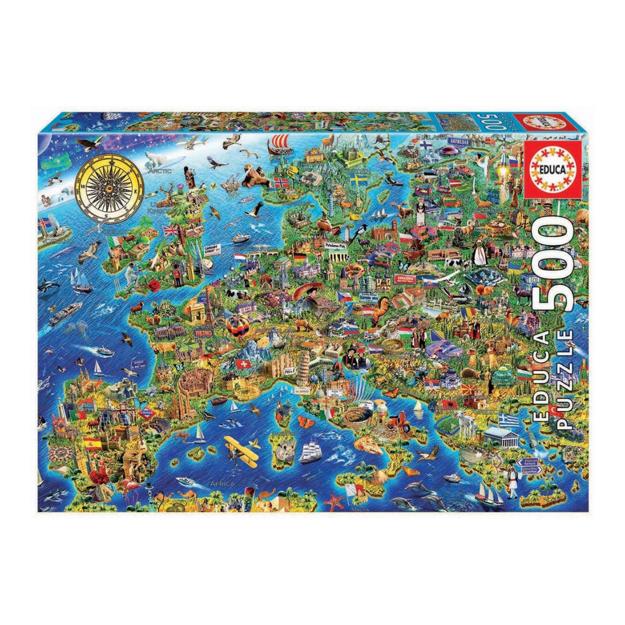 "Imagem de Puzzle Educa 500 Pcs ""Mapa de Europa"""