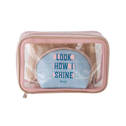 "Imagem de Set de 3 Necessaires ""Look How I Shine"""