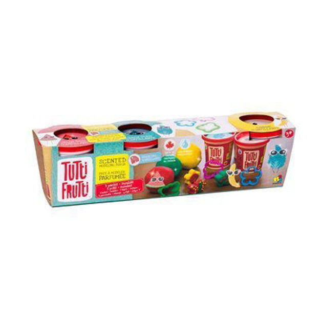 Imagem de Tutti Frutti Plasticina c/ Brilhantes - 3 Potes + Moldes