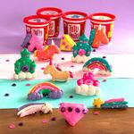 Imagem de Tutti Frutti Plasticina c/ Brilhantes Balde Unicórnios