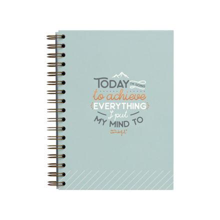 """Imagem de Caderno """"Today I am going to achieve everything"""""""