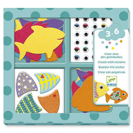 Imagem de Criar com autocolantes - Amo Peixes