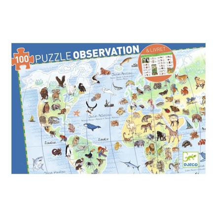 Imagem de Puzzle de Observação Animais 100 Pcs