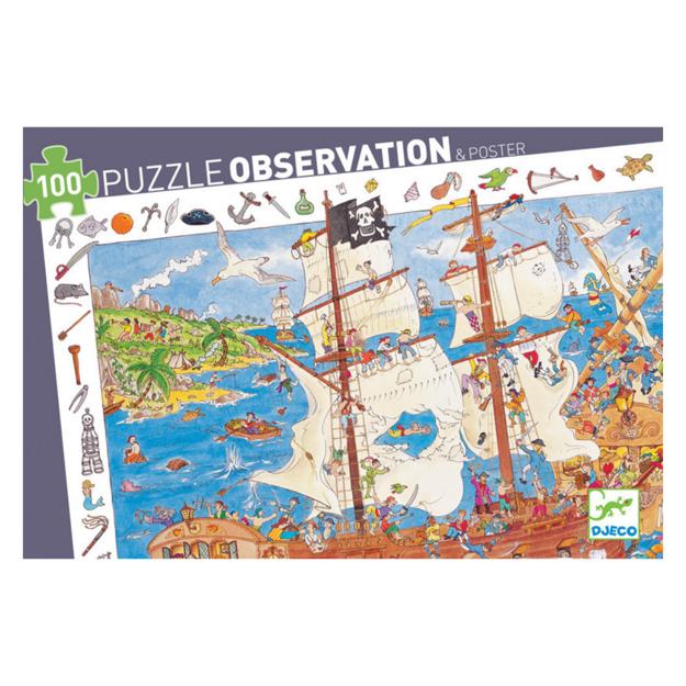 Imagem de Puzzle de Observação Piratas 100 Pcs