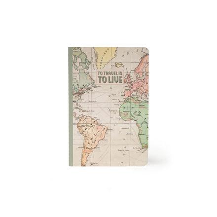 """Imagem de Notebook A5 """"Travel"""" Liso"""