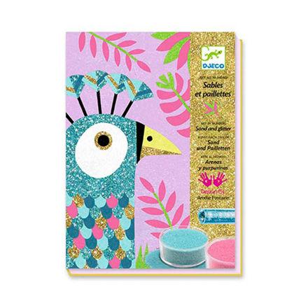 Imagem de Jogo de Colagens Areia e Purpurinas - Pássaros Deslumbrantes