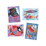 Imagem de Jogo de Colagens Areia e Purpurinas - Peixes Arco-íris