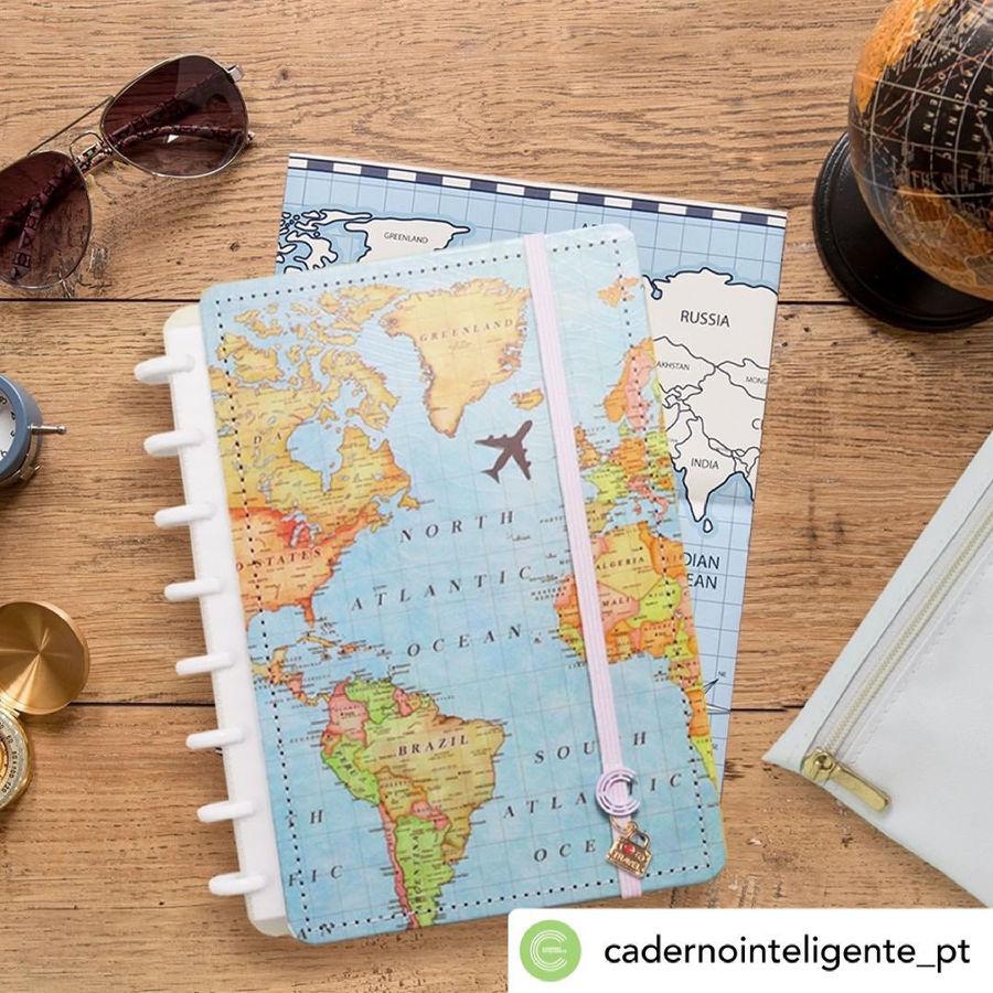 Caderno Inteligente Mapa Mundi